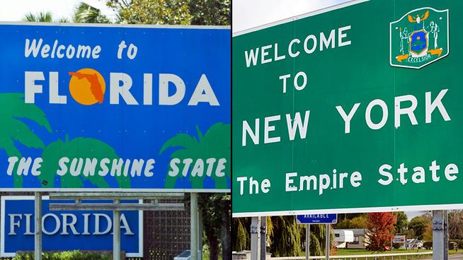 florida new york population
